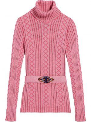 Розовый шерстяной джемпер в рубчик Marc Jacobs