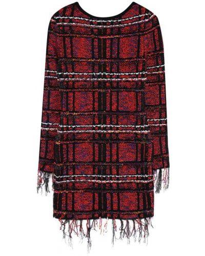 Платье с рукавами хлопковое из вискозы Balmain