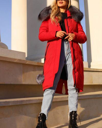 Куртка с карманами - красное Visdeer