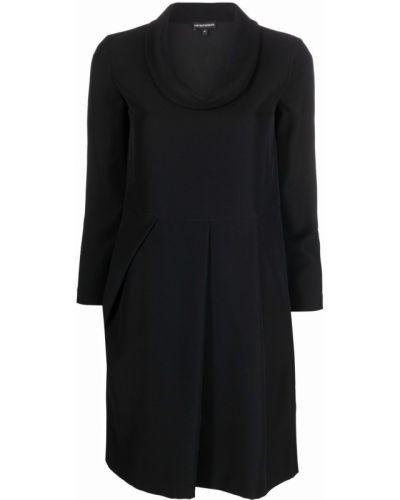 Черное платье макси длинное Emporio Armani
