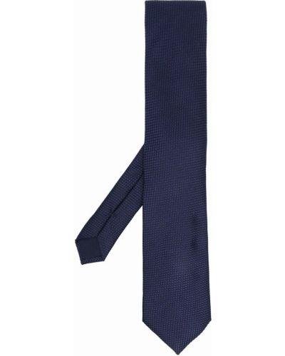 Синий галстук с вышивкой Corneliani
