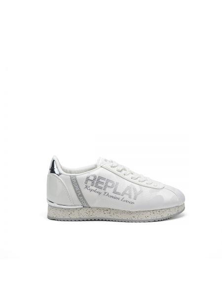 Białe sneakersy skorzane Replay