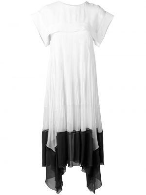Шелковое платье миди - белое Chloé
