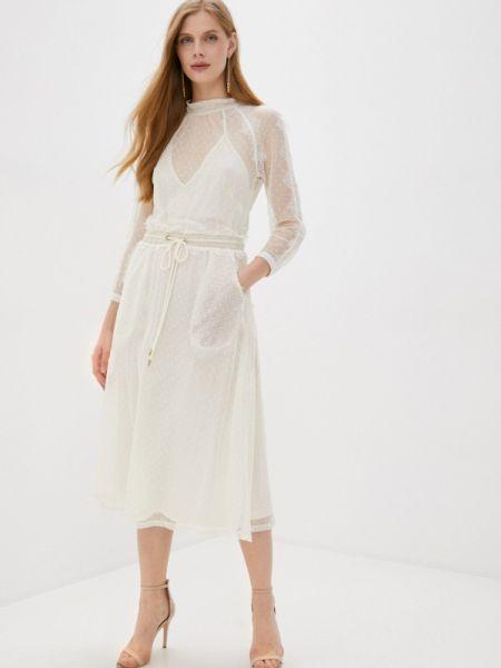 Прямое белое платье Laroom
