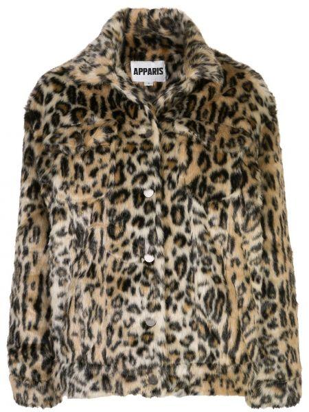 Пальто леопардовый с принтом Apparis