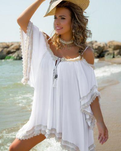 Белая пляжная туника свободного кроя Anastasea
