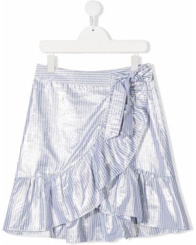 Белая юбка в полоску металлическая Les Coyotes De Paris