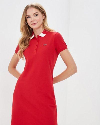 Красное платье Lacoste