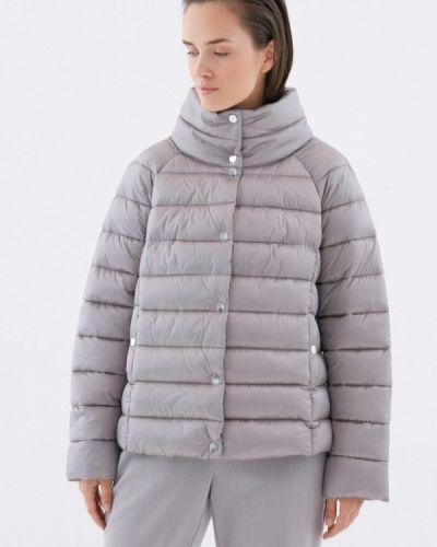 Теплая серая утепленная куртка Zarina
