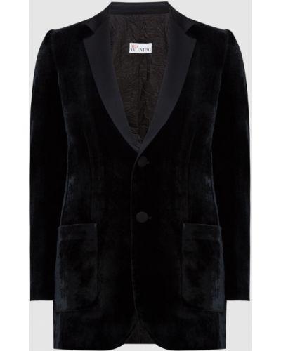 Бархатный пиджак - черный Red Valentino