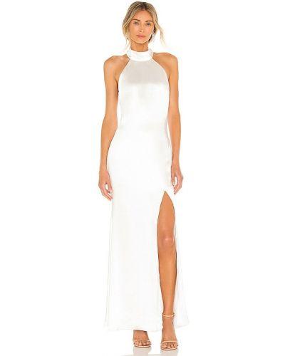 Biała satynowa sukienka Elliatt