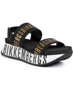 Czarne złote sandały Bikkembergs