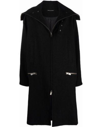 Длинное пальто - черное Yohji Yamamoto