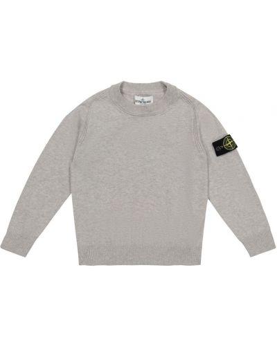 Хлопковый свитер Stone Island Junior