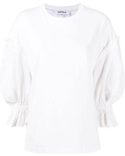 Sweter bawełniany - biały Enfold