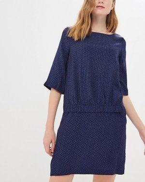 Платье прямое синее Vilatte