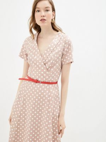 Платье прямое бежевое Aelite