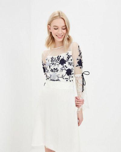 Белое платье джинсовое Glamorous