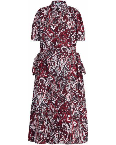 Платье миди с отложным воротником с воротником Kenzo