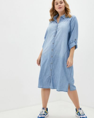 Джинсовое платье - голубое Ulla Popken