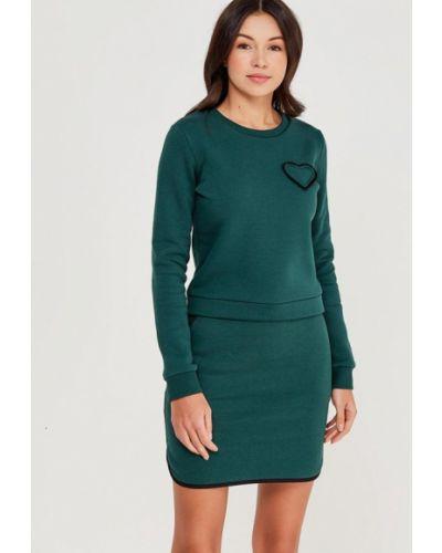 Зеленый юбочный костюм Fashion.love.story