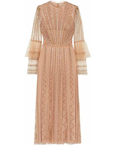 Платье миди из фатина с подкладкой на крючках Temperley London