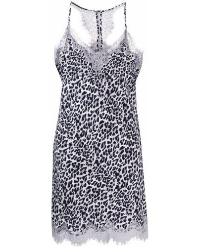 Платье мини серое леопардовое Gold Hawk