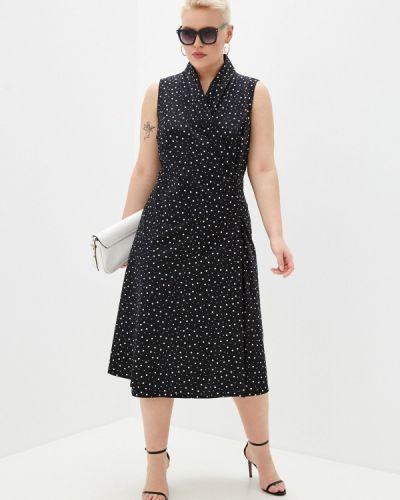 Черное платье с запахом Ulla Popken