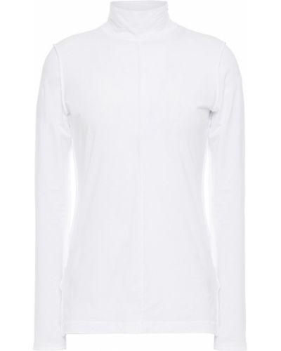 Biały top bawełniany z haftem Ganni