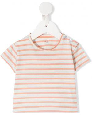 Белая рубашка с короткими рукавами круглая Knot