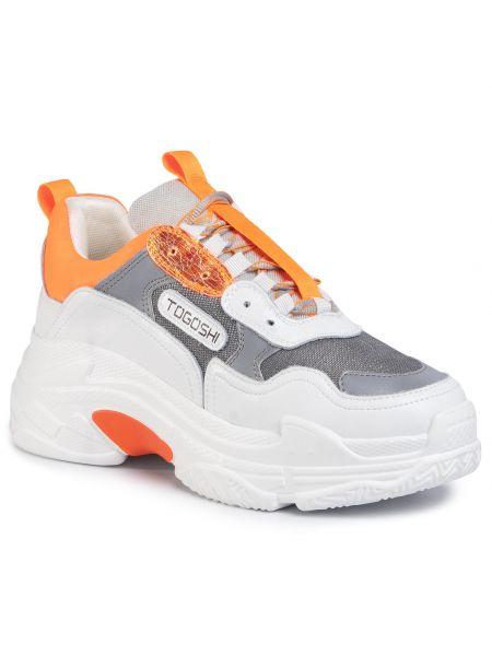 Buty sportowe skorzane - białe Togoshi