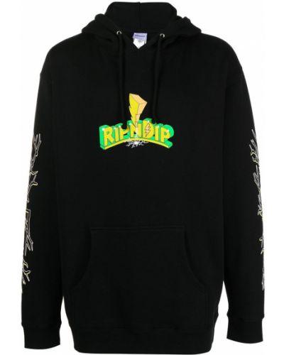 Хлопковое черное худи с капюшоном Ripndip