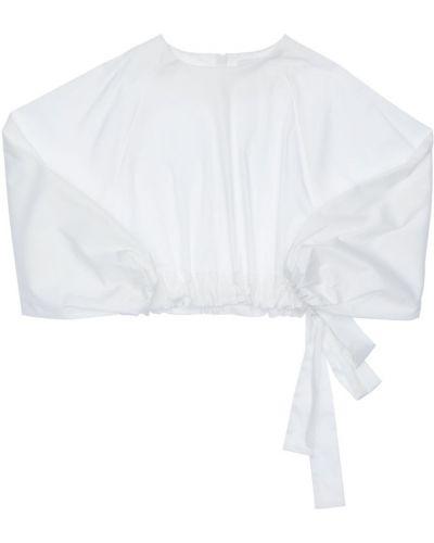 Biała koszula bawełniana z długimi rękawami Unlabel