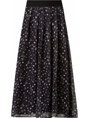 Czarna spódnica midi rozkloszowana tiulowa Pennyblack