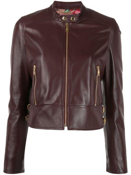 Кожаная куртка байкерская на молнии Dolce & Gabbana