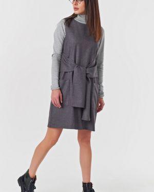 Платье с поясом платье-сарафан прямое Fly