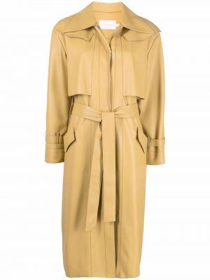 Желтое длинное пальто Low Classic