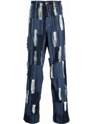 Niebieskie mom jeans z printem Charles Jeffrey Loverboy