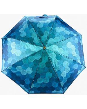 Зонт бирюзовый складной Fabretti