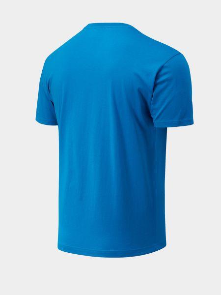 Хлопковая футболка с вырезом с короткими рукавами New Balance