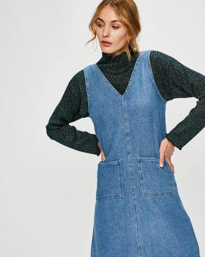 Джинсовое платье мини с карманами Trendyol