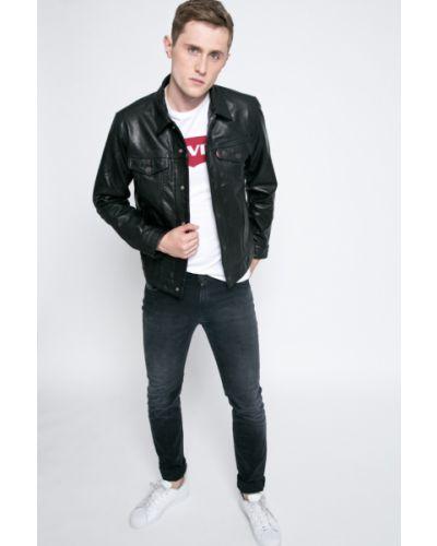 Кожаная куртка утепленная с логотипом Levi's®