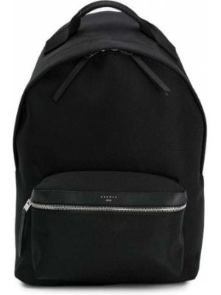 Klasyczny czarny plecak skórzany Sandro Paris