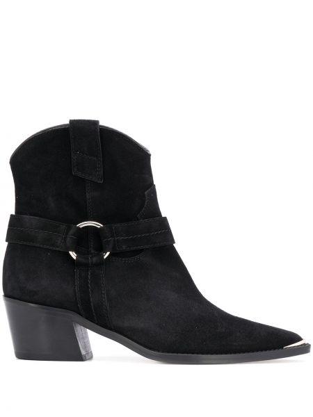 Ботинки на каблуке черные без каблука Via Roma 15