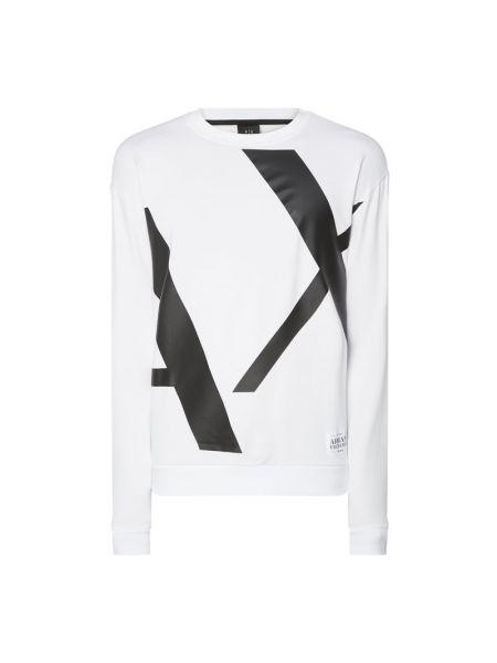 Bawełna bawełna biały bluzka z dekoltem Armani Exchange