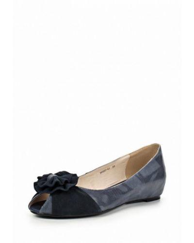 Туфли на каблуке закрытые из нубука Provocante