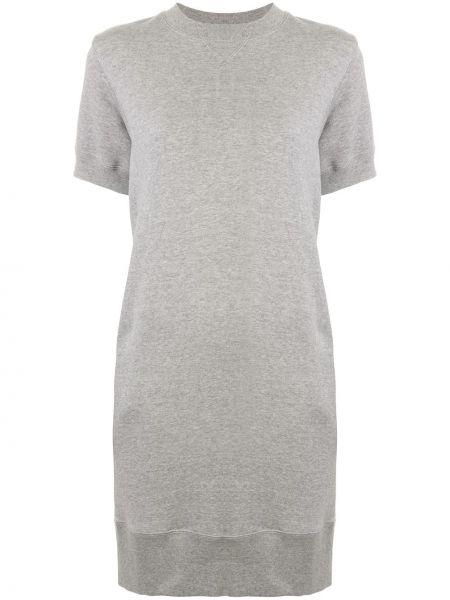 Платье мини в рубчик платье-свитер Sacai