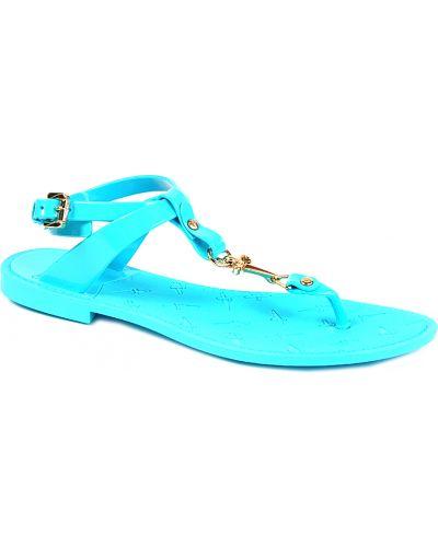 Голубые сандалии резиновые Cesare Paciotti
