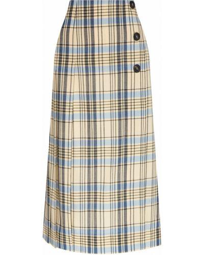 Плиссированная юбка миди шотландка Victoria Beckham