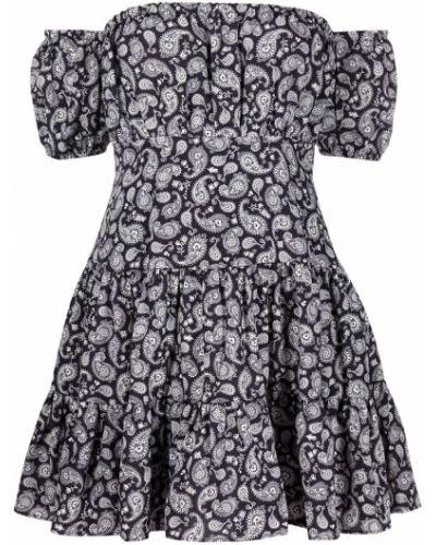 Biała sukienka mini z printem Likely